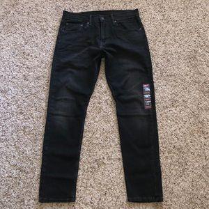 Men's Levi's 512 slim taper black jeans size 31x30